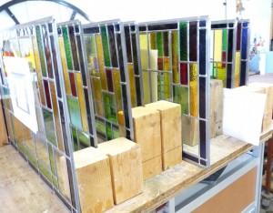 glas in lood geschikt gemaakt voor isolatie glas