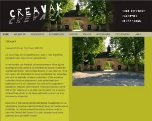Creavak  organiseert creatieve vakanties in Frankrijk - Google Chrome