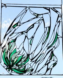 werkstuk cursist Creavak glas in lood cursus