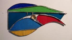 Glas in koperfolie of Tiffany. Een ontspannen manier om met glasscherven iets moois te maken.