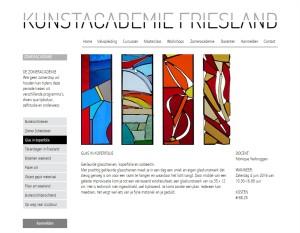 Glas in koperfolie - Zomeracademie Friesland